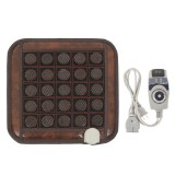 220V Electric Infrared Heating Heated Mat Natural Jade Tourmaline Massage Pad for Back Shoulder Legs Muscles Pain Relief