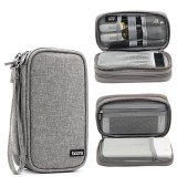 Boona 19cm*10.5cm Double-deck Digital Accessories Storage Bag USB Cable Charger U Dick Power Bank Organizer Bag