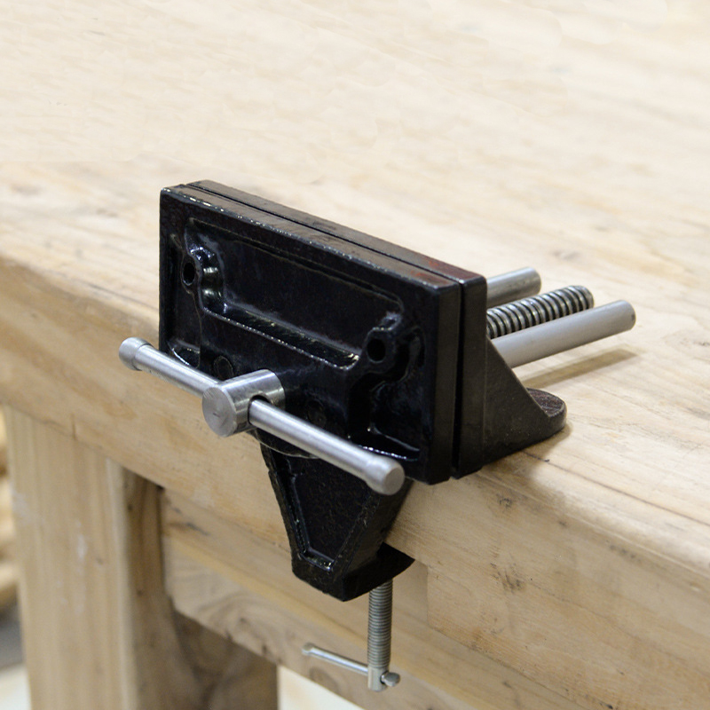 Mytec Universal Heavy Table Vise Woodworking Bench Vise Desktop Vise Jewelers Vice Clamp-On Bench Vise Hand Tool