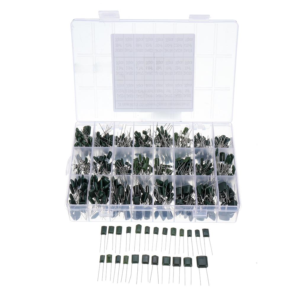 140Pcs 14 Values 630V Polyester Film Capacitor Electrolytic Assortment Kit