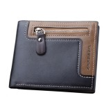 IPRee Men's Short Wallet Leather Travel Trifold ID Credit Card Holder Coin Purse