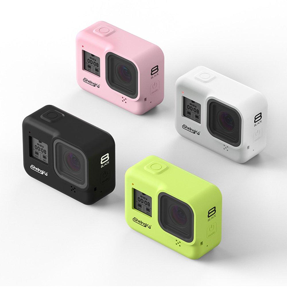 Sheingka Silicone Protective Camera Case Black / White / Green For Gopro Hero 8 Black FPV Camera