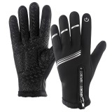 Winter Ski Gloves Touch Screen Motorcycle Snowboarding Waterproof Thermal Reflective Strip Anti-slip Warm Men Women