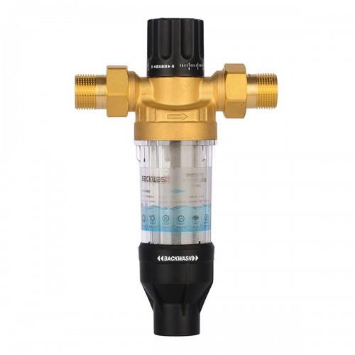 3000L/H Front Purifier Brass Tap Backwash Remove Rust Sediment Water Pre-filter