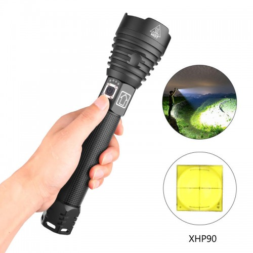 XANES 1909 XHP90 2500 Lumens 3 Modes Zoomable USB Rechargeable Flashlight Outdoor 18650/26650 Flashlight LED Torch Light Flashlight Led Flashlight 18650 Flashlight Torch