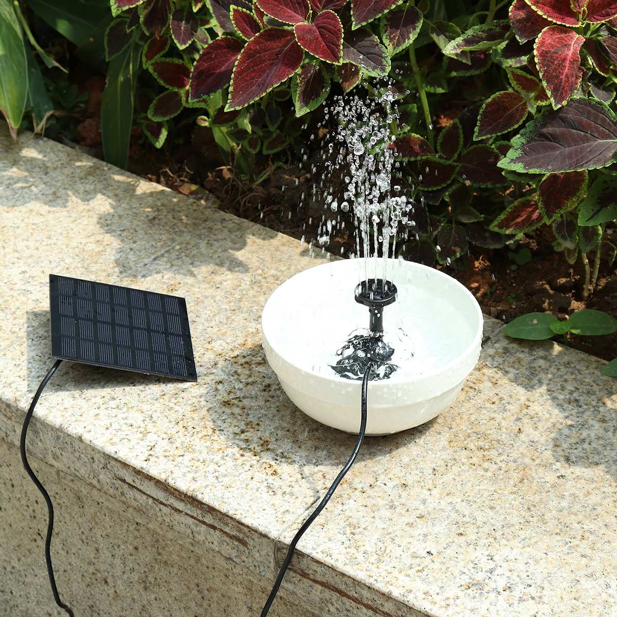Solar Fountain Water Pump for Bird Bath Solar Panel Kit Fountain for Small Pond Garden Solar Pumping Eqiupment