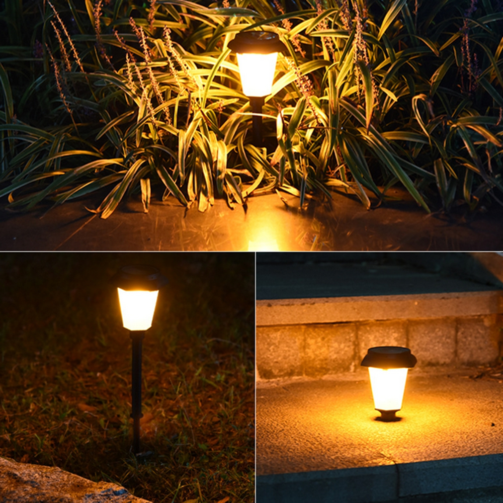 4pcs Solar Power LED Lawn Light Flickering Flame Outdoor Garden Yard Landscape Lamp