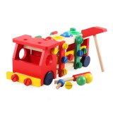 DIY Educational Toys Kids Exercise Practical Wooden IQ Game Car Assemble Building Gift Training Brain Toys