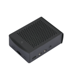 Black Aluminum Alloy Case with Cooling Fan Protective Shell Metal Enclosure fit for Raspberry Pi 4 Model B