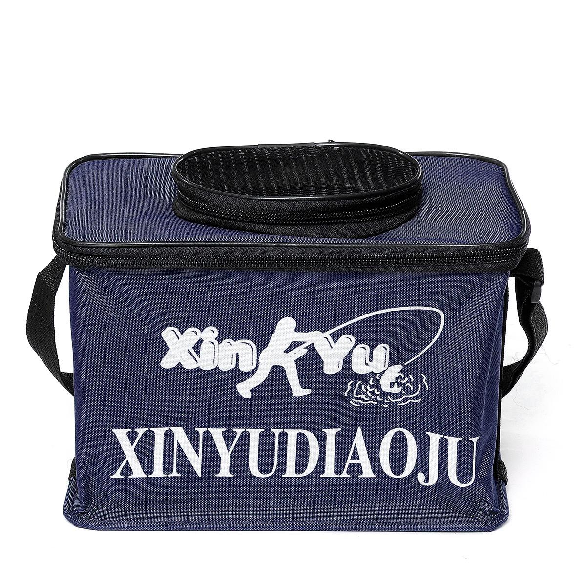 25x15x18cm Canvas Waterproof Fishing Bag Fishing Lure Bag Multifunctional Portable Shoulder Bag