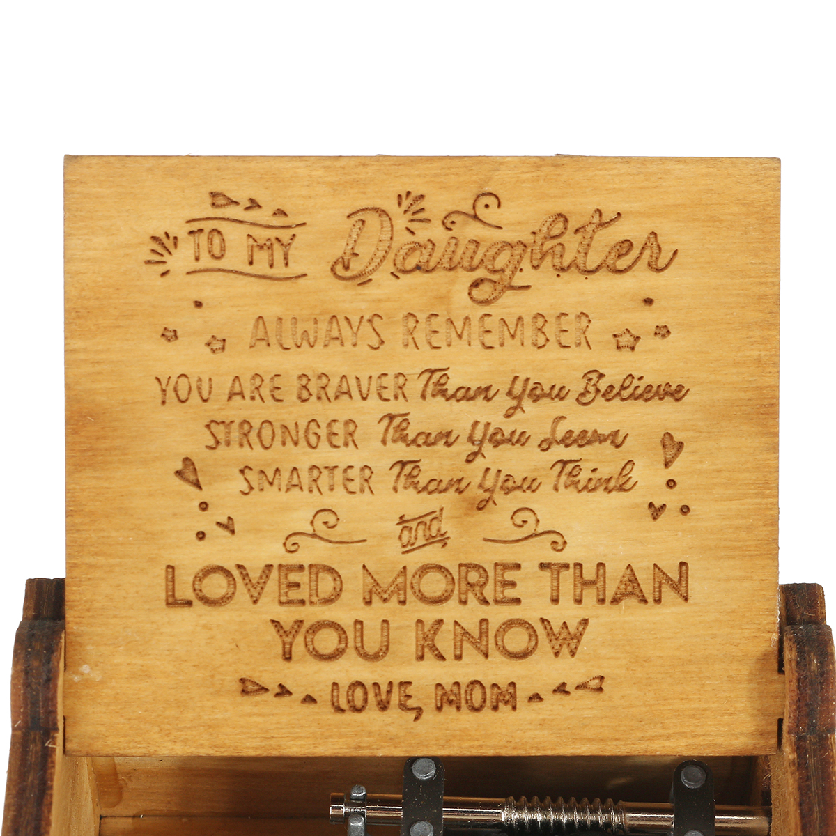 Hand Crank Wooden Engraved Theme Music Box Musical Accessories for Music Enthusiast