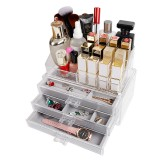 Acrylic Transparent Jewelry Cosmetics Holder Necklace Drawer Drawer type Jewelry and Cosmetics Storage Box