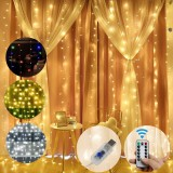 3M*1M/3M*2M USB Waterproof Sliver Wire LED String Light Curtain Tree Strip Fairy Christmas Holiday Party