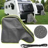 MATCC Waterproof Universal Caravan Trailer Towing Hitch Car Cover Coupling Lock Protector Grey
