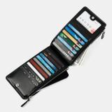 Men Faux Leather Long Wallet 17 Card Slots Holder Zipper Phone Pocket Money Wallet