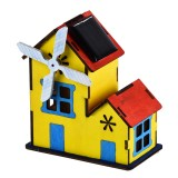 DIY Solar Cabin Model Intelligence Training Building Block Solar Cabin Model Blocks Toys