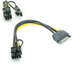 Length 20cm Durable ZQ House 4 Pin IDE 1 Male to 3 Female Splitter Power Cable for 3.5 HDD DVD