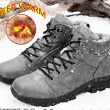 TENGOO Men's Winter Fluff Snow Boots Keep Warm Hiking Outdoor Sport Shoes Sneakers