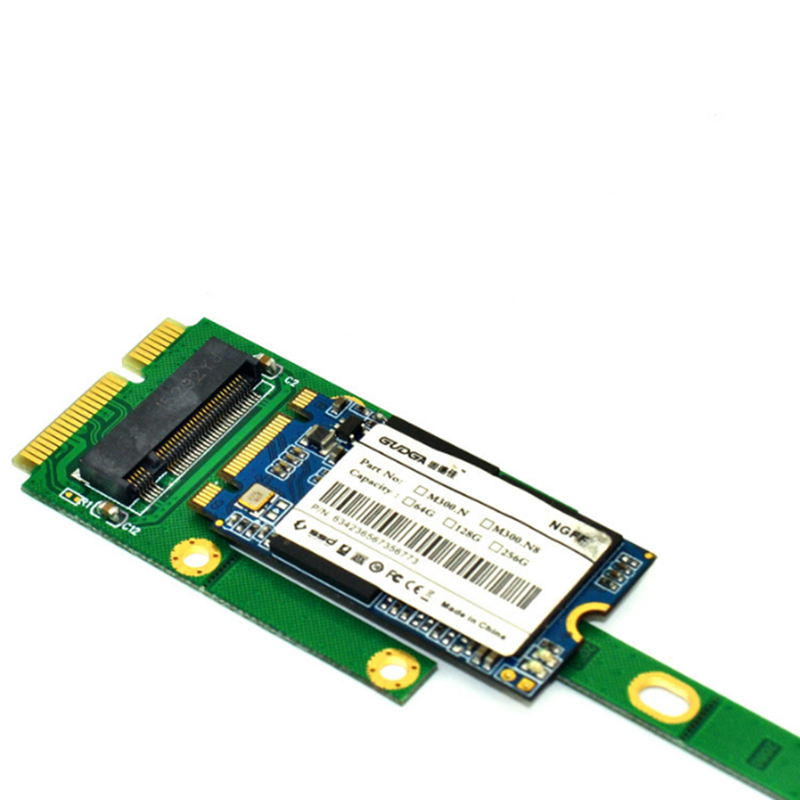 ITHOO MS2NGFF-N01 M.2 NGFF SATA to mSATA Interface M.2 NGFF SSD PCI-E Expansion Card 6Gbps for Desktop Computer