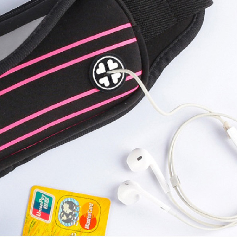 6 Inch Outdoot Sports Waist Bag With Phone Bag For Running Jogging Hiking Climbing