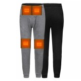 Szie L Women Men's Winter Heated Pants USB Electric Heating Fleece Trousers Thick