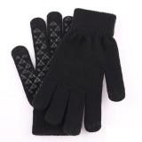 YOINS Winter Knit Gloves for Men Women Touch Screen Anti-Slip Warm Wool Lining Finger Gloves