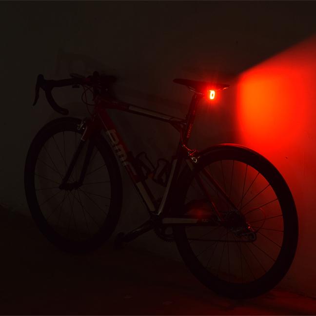 ENFITNIX 30LM COB LED Intelligent Sensor Brake Light 30H Working Time Bike Tail Light USB Road Bike MTB Warning Rear Lamp