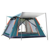 Outdoor Automatic Tent 4 Person Family Tent Picnic Traveling Camping Tent Outdoor Rainproof Windproof Tent Tarp Shelter