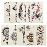 Temporary Tattoo Stickers Waterproof Sweatproof Artistic Creative Body Arm Legs Stickers