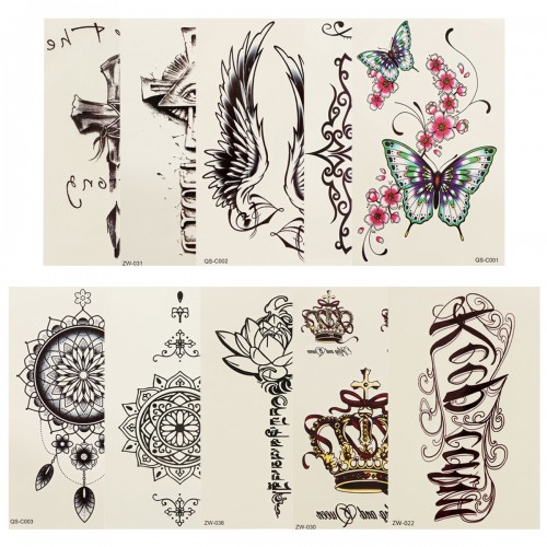 Temporary Tattoo Stickers Waterproof Sweatproof Artistic Creative Body Arm Legs Stickers