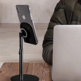 XGear S1 Metal 35 Degree Up Down Adjustable Cable Clip Desktop Stand Lazy Holder for Mobile Phone Tablet under 10 inch