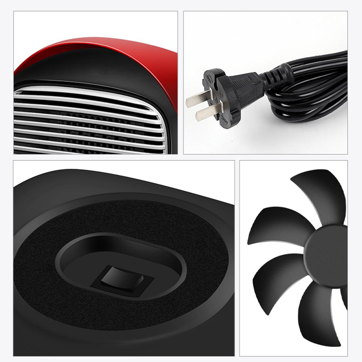 800W Portable Electric Heater Mini Ceramic Hot Air Heating Fan Winter Home Space Warmer