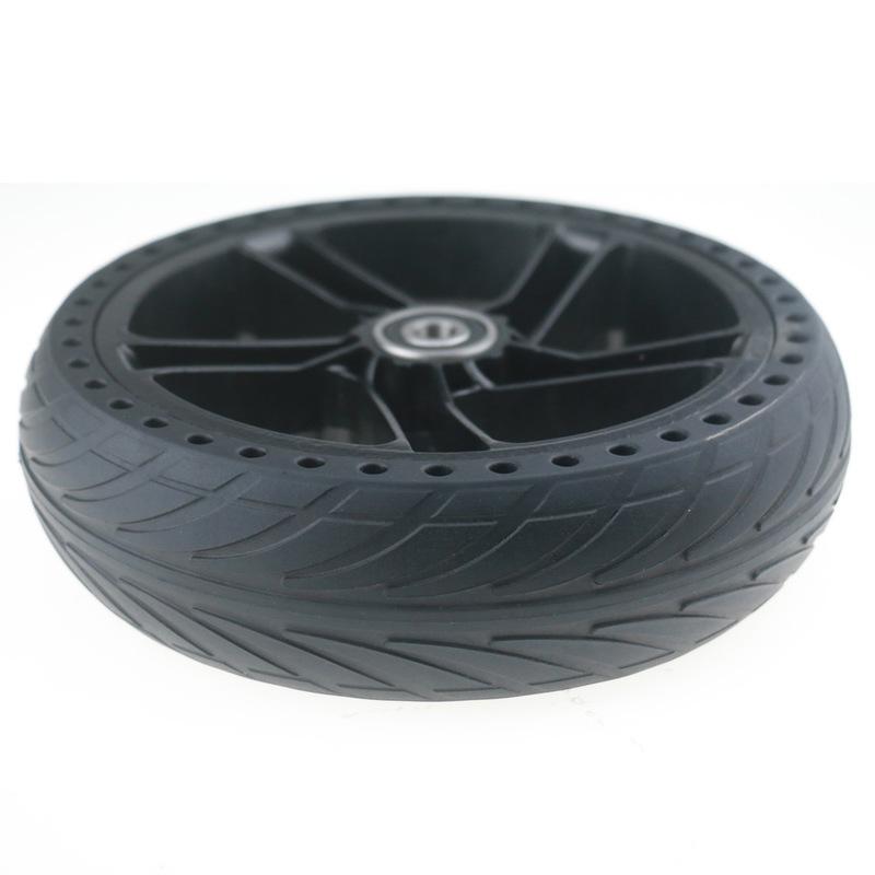 BIKIGHT Wheel Hub Tire Set For Ninebot ES1 ES2 ES3 ES4 Electric Scooter Aluminum Alloy Anti-Skidding Scooter Tire Wheels
