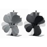 4 Blades Aluminum Fireplace Fan 1100rpm Quiet Heat Powered Stove Fan Wood Burning Eco-Friendly Efficient Heat Distribution