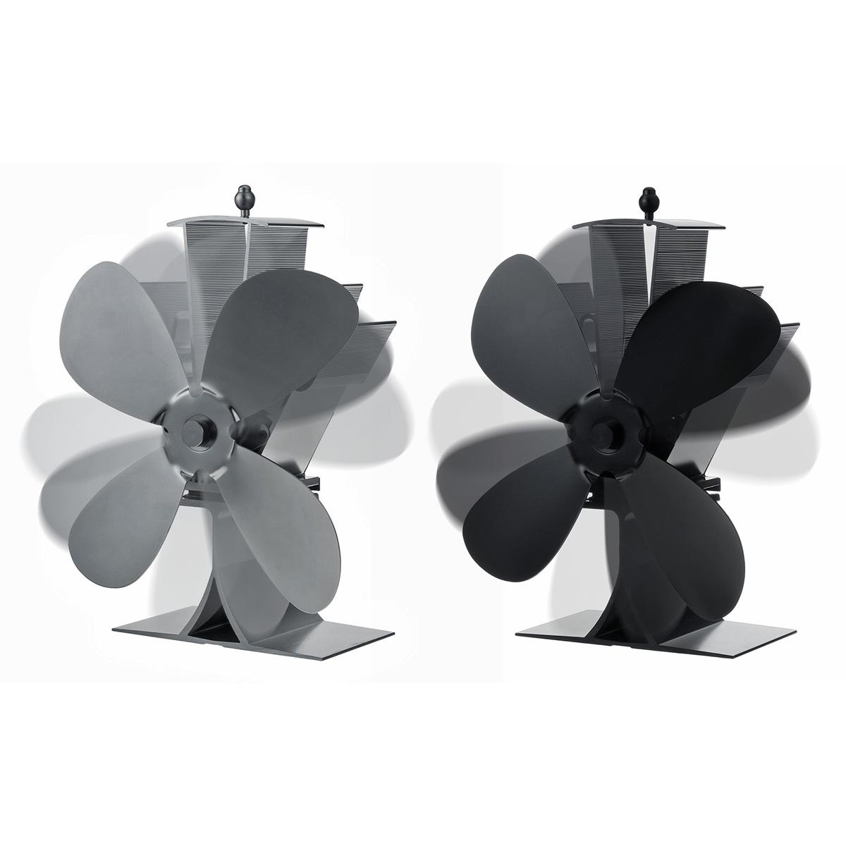 Aluminum Fireplace Fan 1100rpm Quiet