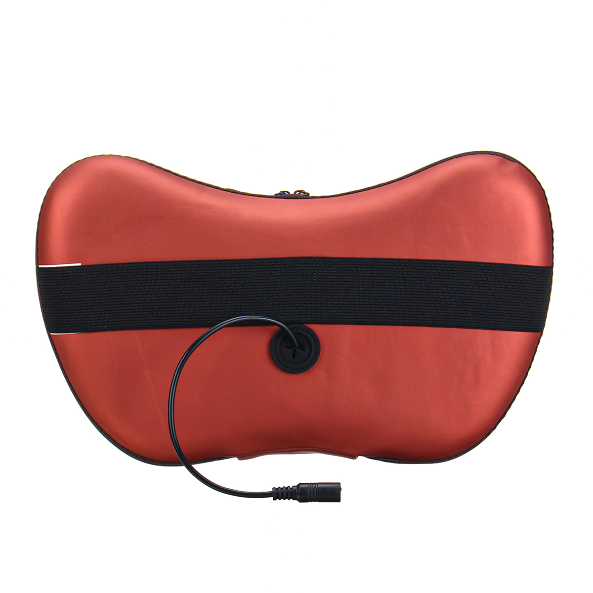 Car Electric Lumbar Neck Back Massage Pillow 3 Gears 3D 48 Heads Kneading Cushion Heat Magnetic Stone Massager