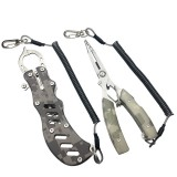 ZANLURE 2PCS Stainless Steel Camouflage Fish Pliers Set Fishing Gripper Set Outdoor Portable Fishing Tool