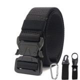 Xmund XD-TB3 125cm Men's 1000D Nylon Belt Metal Buckle Quick Release Tactical Belts With Carabiner Eagle Mouth Buckle Beverage Hanging Belt