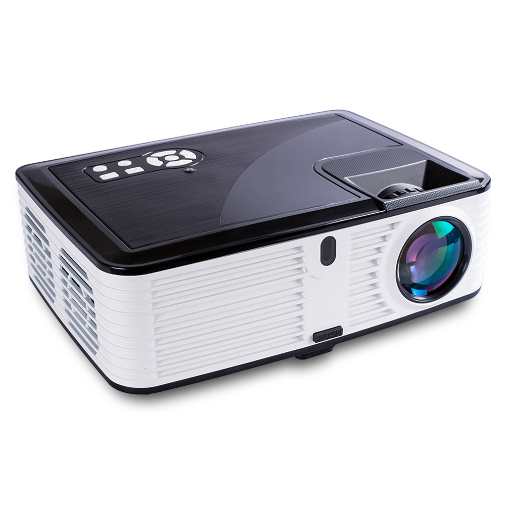 Visiantek VS768 6.7-inch LCD Projector LED Projector Native 1080P 4000 Lumens Real Full HD Projector 4000 Lumens Home Theater Android Version