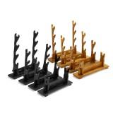 1/2/3/4-Tier Katana Holder Solid Wood Bracket Rack Hanger Tool Display Stand