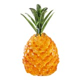 Crystal Glass Pineapple Figurine Hand Craft Gold Paperweight Ornament Gift Decorations