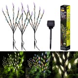 3PCS Solar Powered Tree Branch Leaf Pattern LED Garden Holiday Light Outdoor Path Waterproof Decorative