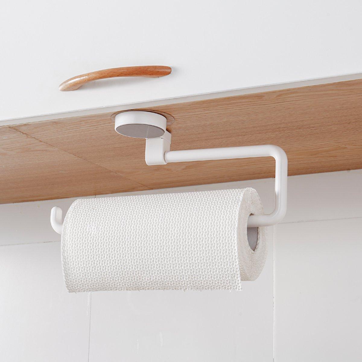 Kitchen Towel Hanger Toilet Cabinet Roll Paper Tissue Rack Holder Home Organizer
