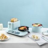 Donlim DL-3405 3 in 1 Breakfast Maker Bread Maker Coffee Roaster Household Breakfast Machine Fried Eggs Steamer Pan
