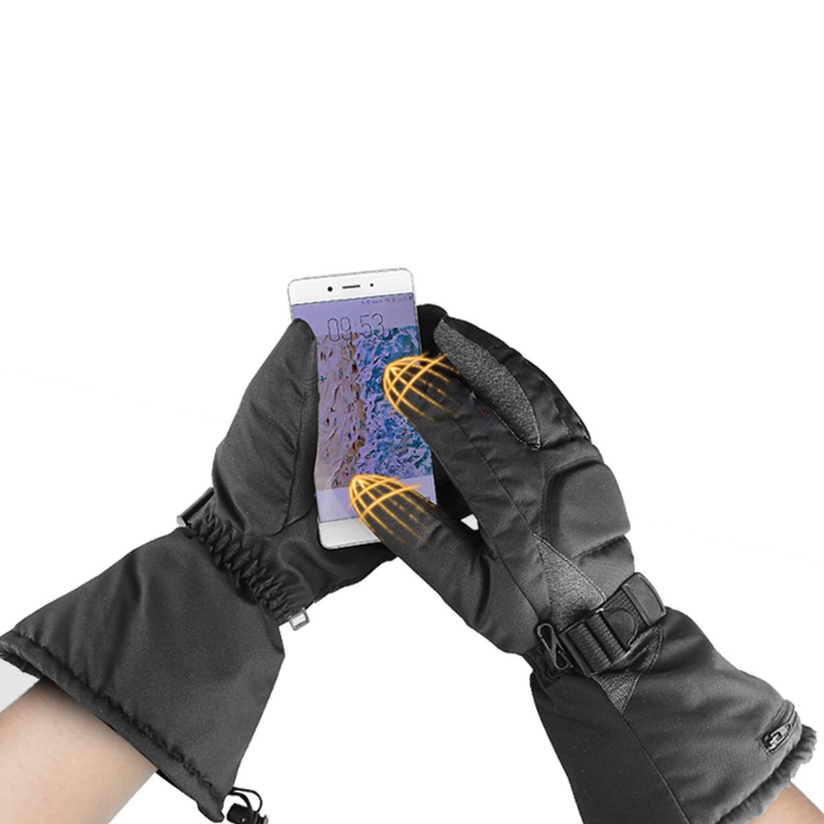 65C Electric Heated Gloves Motorcycle Warmer Outdoor Skiing Winter Warm Heating Waterproof