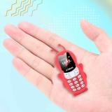 Bakeey V5 0.66 Inch 350 mAh bluetooth Dialer MP3 Magic Voice Dual SIM Card Dual Standby Smallest Mini Card Phone