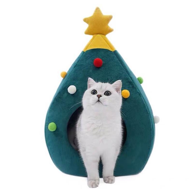 Christmas Tree Cat Litter Kennel Winter Warm Pet Nest Winter Cat House Pet Supplies Pet Bed