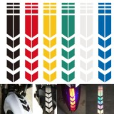 Motorcycle Reflective Stickers Wheel Fender Waterproof Safety Warning Arrow Tape Car Decals Decoration Accessories