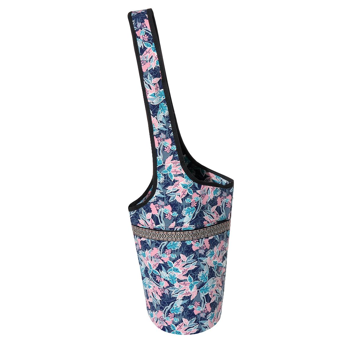 Fashion Printed Canvas Yoga Bag With Large Capacity Pocket Fit Most Yoga Mats