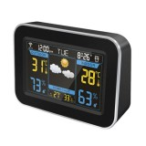 YUIHOME F-100 Creative Color Screen WIFI Temperature Humidity Clock Automatic Timing Electronic Alarm Clock Weather Forecast Clock